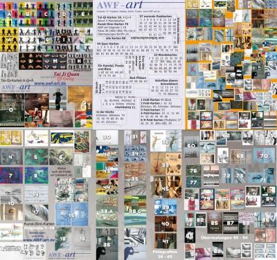 Postkartenkollektion aus ca. 100 Tai Ji- und Kunst-Sinn-Karten