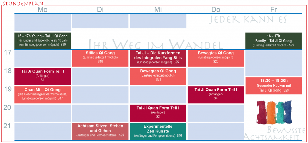 Probestundenplan Winter 2018/19
