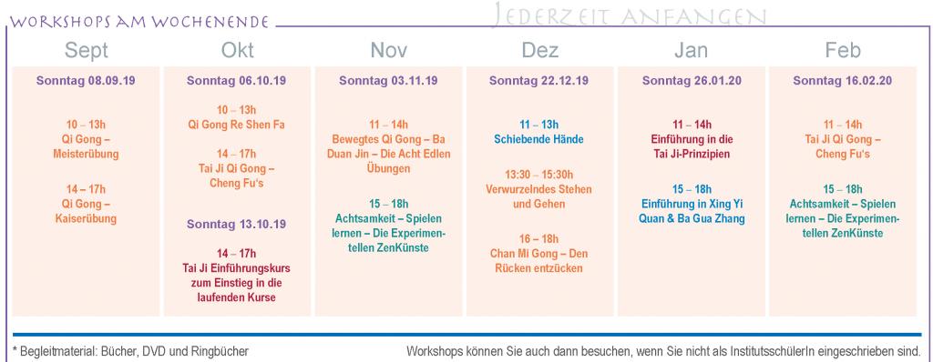 Workshops Wintersemester 2019/20